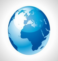 Blue earth globe stock free vector