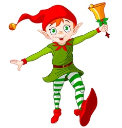 Christmas Elf Jump vector image vector image