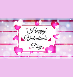Colorful valentines day with colorful hearts vector