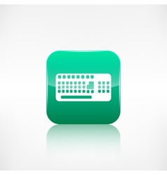 Computer keyboard web icon application button vector