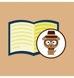Concept hipster book read vector