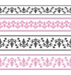 decorative ribbon Seamless strip vector image vector image