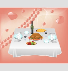 Dinner for two vector image