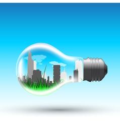 Eco bulb vector