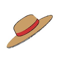 gardener hat isolated vector image vector image
