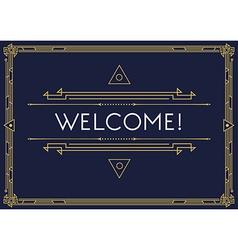 Gatsby style invitation in art deco or nouveau vector