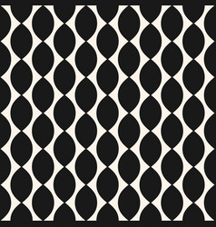 geometric seamless pattern with ovate shapes vector image