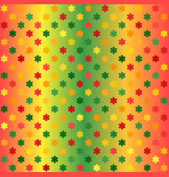 Glowing flower pattern seamless gradient vector