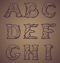 Halloween decorative alphabet part 1 vector