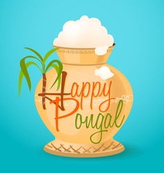 happy pongal greeting vector image vector image