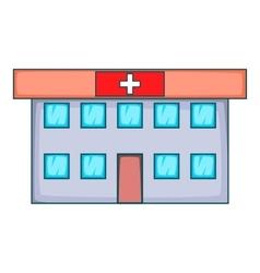 Hospital icon cartoon style vector