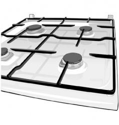 kitchen range vector image
