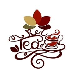 Lettering - red tea vector