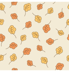 Oak leaves seamless pattern Autumn background vector image vector image