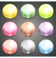 Set of colorful round baubles or balls vector