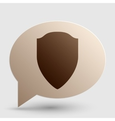 Shield sign Brown gradient icon on vector image
