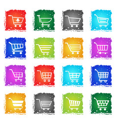 shopping cart icon set vector image vector image
