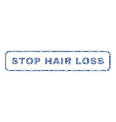 Stop hair loss textile stamp vector