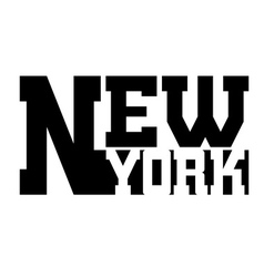 T shirt typography graphic New York vector image vector image