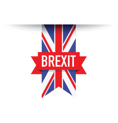 United kingdom brexit flag vector