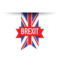 united kingdom brexit flag vector image vector image