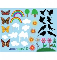 vector summer set vector image