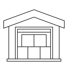 Warehouse icon outline style vector image
