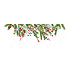 winter nature banner vector image vector image