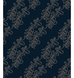 Seamless pattern with hatched ornament vector