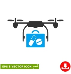 Airdrone pharmacy delivery eps icon vector