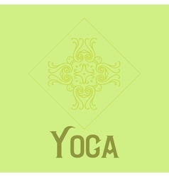 Simple logo with abstract curly symbol for yoga vector
