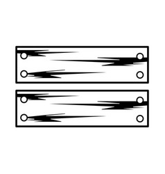 Line wooden planks with metal laces vector
