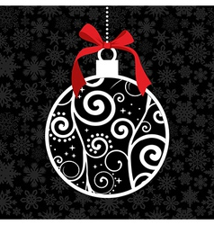 Elegant Christmas hang bauble vector image
