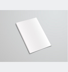 Mockup white brochure on a gray background vector
