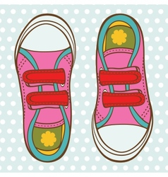 Sports shoes for a girl vector