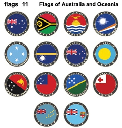 Flags of australia and oceania vector