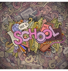 School cartoon hand lettering and doodles elements vector