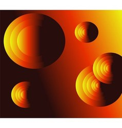 Light effects circle orange background vector