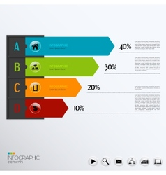 Template for infographic vector
