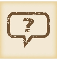 Grungy question icon vector