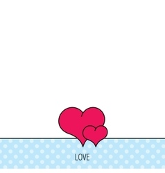 Love heart icon couple romantic sign vector