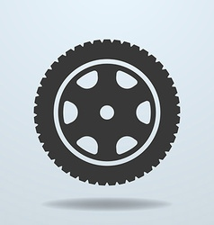 Car wheel icon car tire rim vector