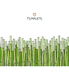 Template with bamboo japanese background vector