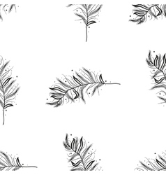Seamless pattern with feathers vector