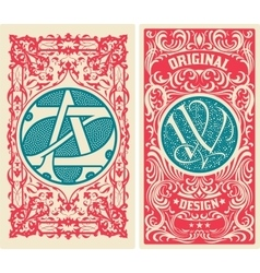 Old card set vector