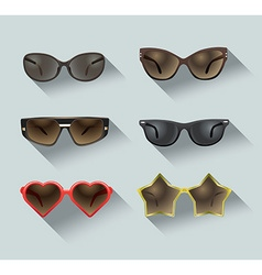 ladies sunglasses vector image