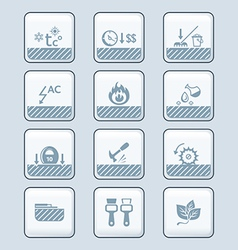 floor covering specs icons - tech vector image