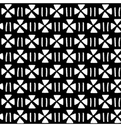 Black and white ethnic geometric seamless pattern vector