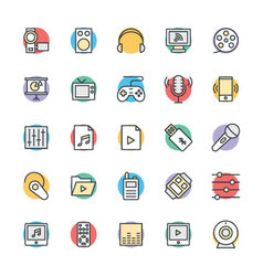 Multimedia Cool Icons 4 vector image