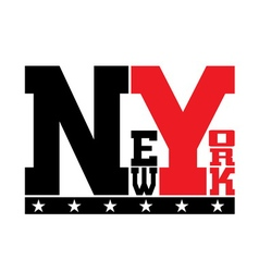 T shirt typography stars new york vector